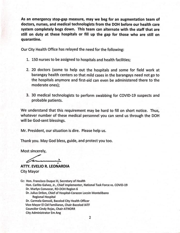 Letter of appeal to Pres Duterte page 02
