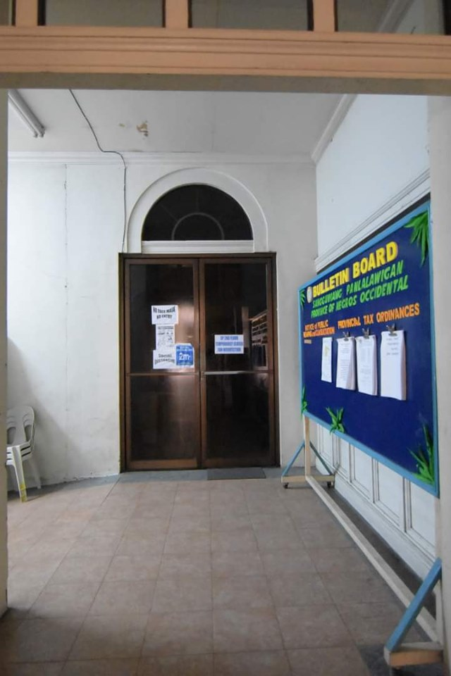 The entrance to the provincial council offices on the south wing of Capitol.   Photo by Richard Malihao / Capitol PIO