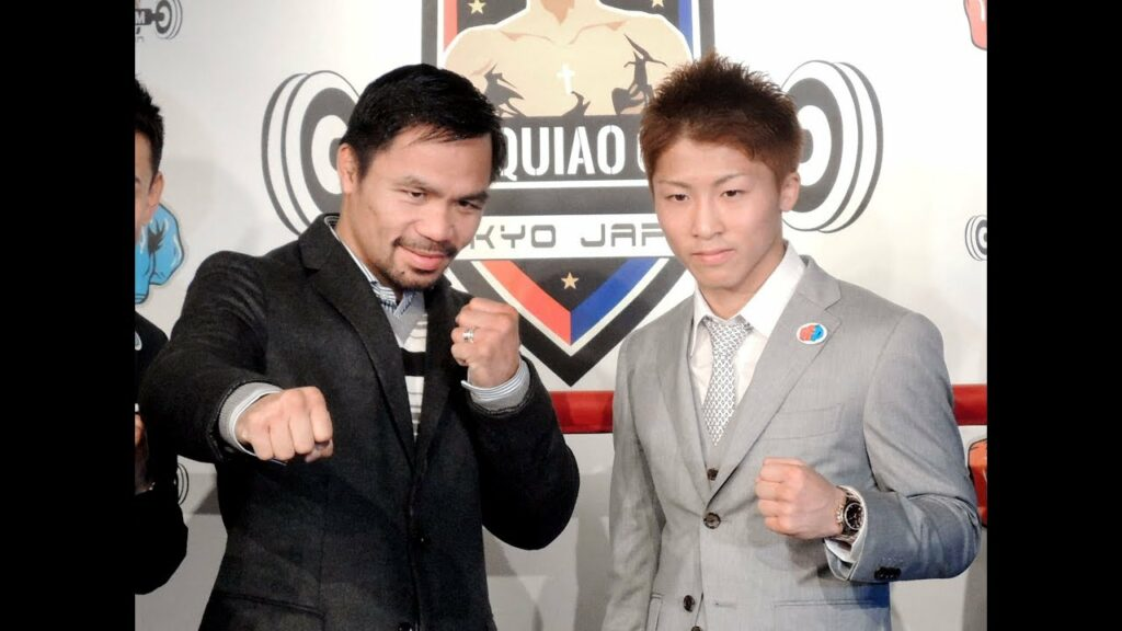 "Japanese boxing sensation Naoya Inoue and eight-division world champion Manny ""Pacman"" Pacquiao. 