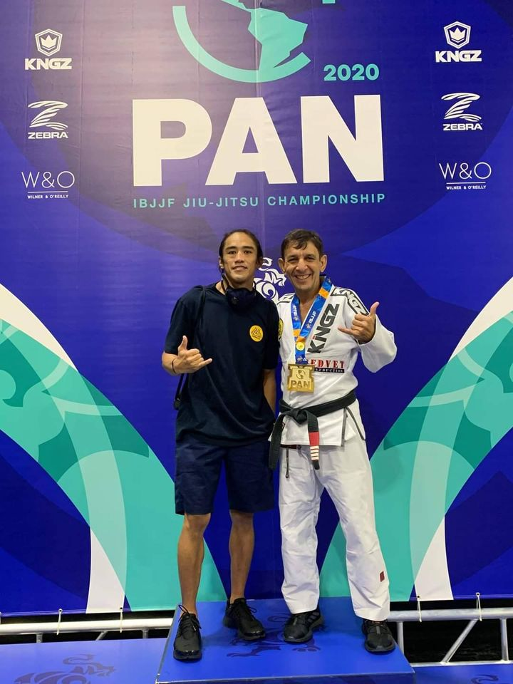 Doc Sunny Diego with Professor Marcus Norat, Master 4 IBJJF PAN American Champion. Norat is also of Gracie Humaita Jiujitsu Redlands. | Photo from personal collection courtesy of Doc Sunny Diego