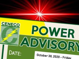 BACOLOD CITY, Negros Occidental, Philippines - Central Negros Electric Cooperative, Inc. informs its consumers connected to Alijis Feeder 6 that maintenance activities will be conducted on 30 October, Friday.