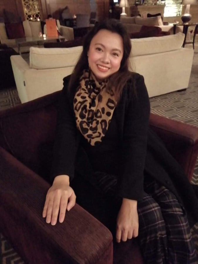 Aya Gamboa enjoying her stint as Chief Executive Officer of Forma International. Shown here in Millennium Doha Hotel. | Photo taken with permission from Aya Gamboa's Facebook Account