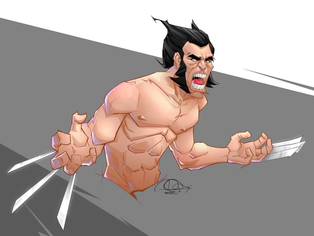 Wolverine fan art. | Artwork by Earl Genesis Sagayno.