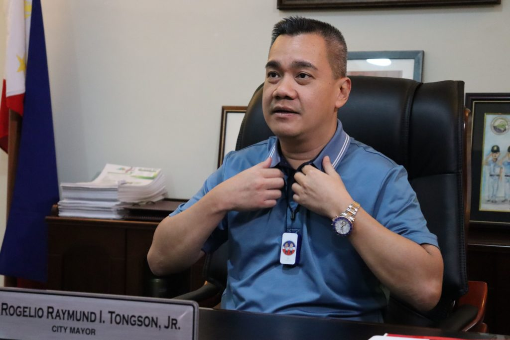 Mayor Rogelio Raymund I. Tongson, Jr. during an interview with DNX. | Photo by Banjo C. Hinolan, Jr.