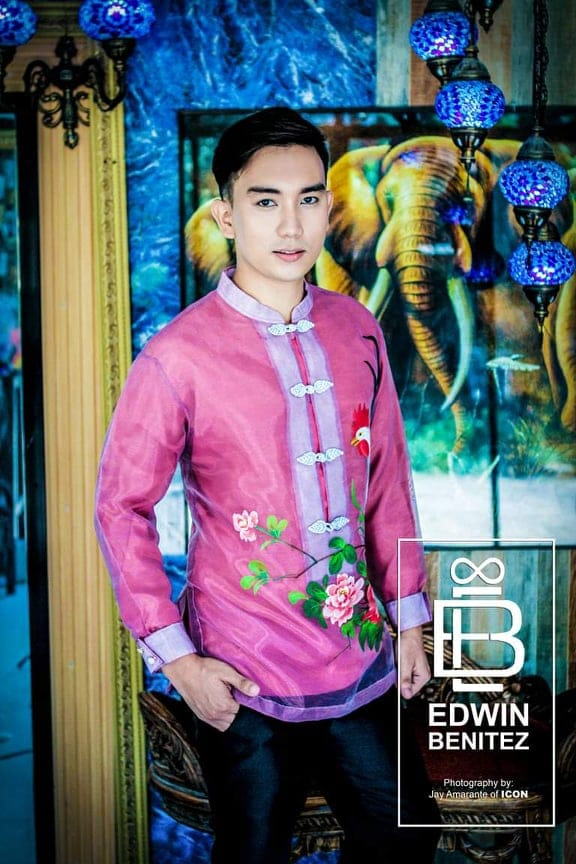 A sample of the creation of fashion designer Edwin Benitez who will be helping raise funds for the community pantry of artists.  Photo from Edwin Benitez thru Rudy Reveche used with permission