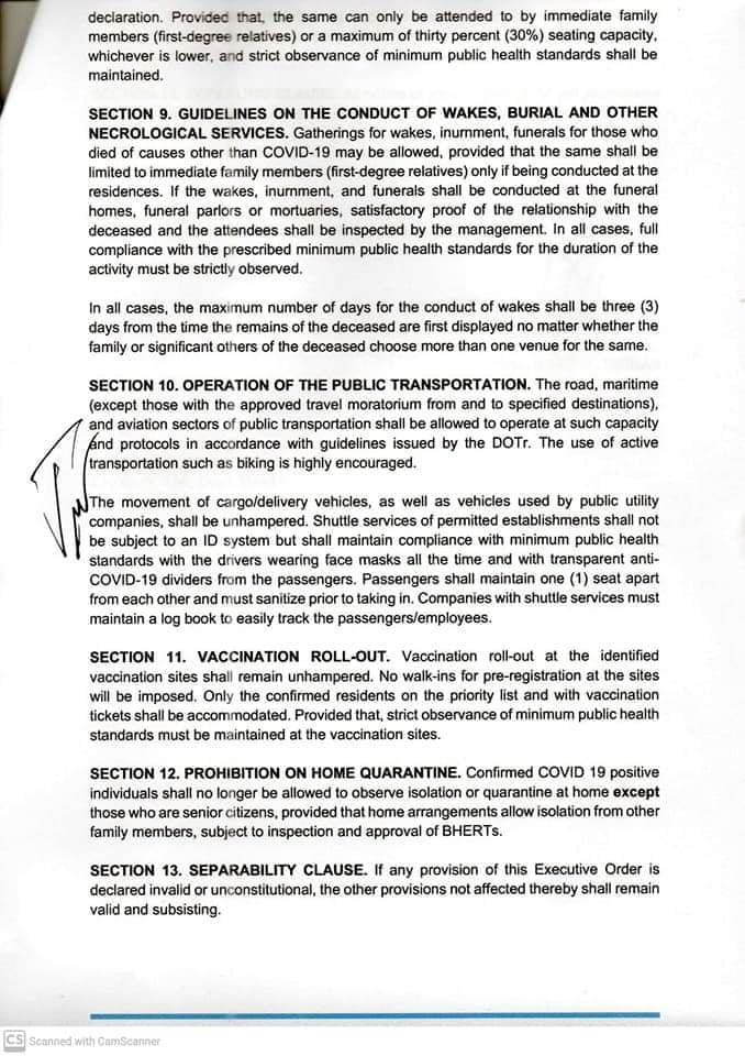 Page 6 of the Executive Order 041-A of Iloilo Mayor Jerry Treñas.