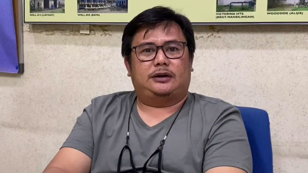 Baciwa-Prime Water acting general manager Michael Soliva in an interview with Yasmin Pascual-Dormido. | DNX file photo.